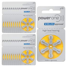 PowerOne p10 Hearing aid batteries- batch of 20