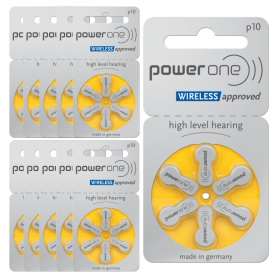 PowerOne type 10 hearing aid batteries - P10 pack