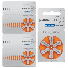 PowerOne p13 Hearing Aid Batteries- Batch of 20