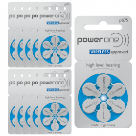 Power One 675 Hearing Aid Batteries - Batch of 10 P675