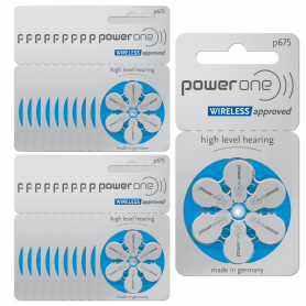 PowerOne p675 Hearing Aid Batteries- Batch of 20