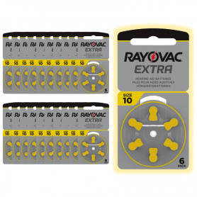 Rayovac 10 hearing aid batteries - batch of 20