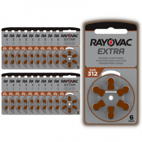 Rayovac 312 hearing aid batteries - batch of 20