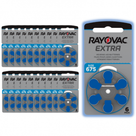 Rayovac 675 hearing aid batteries - batch of 20