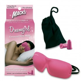 Dreamgirl sleep mask and earplugs
