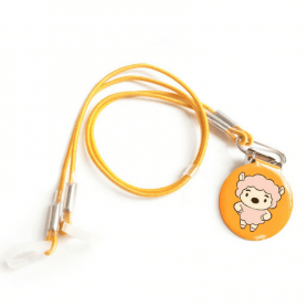 Corded protection clip for children's BTE hearing aid