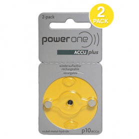 Pack de 2 lots de piles auditives rechargeables Power one