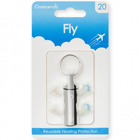 Crescendo FLY 20 dB special earplugs for flying